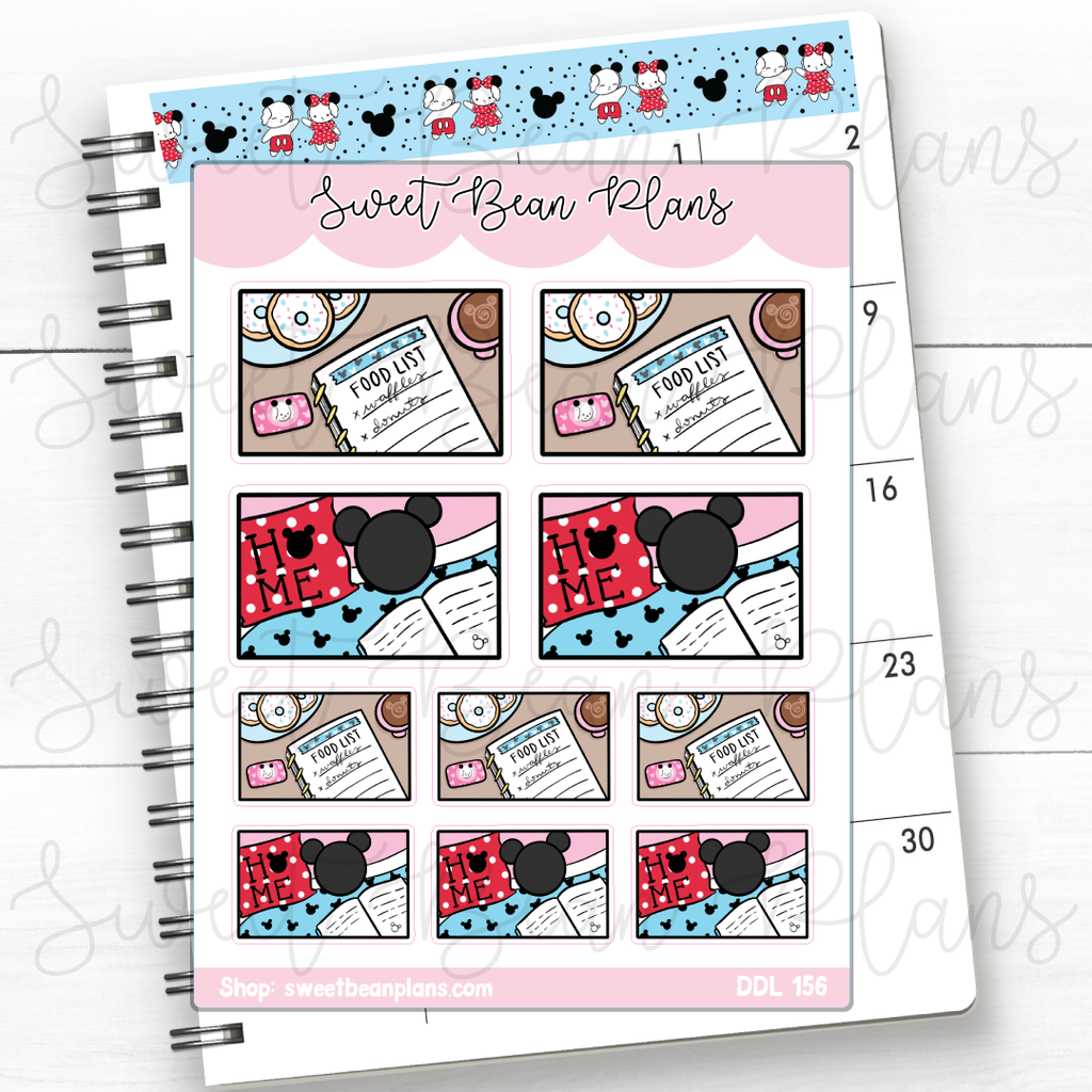 Rainy Day Mugs Doodle Planner Stickers | Ddl 156