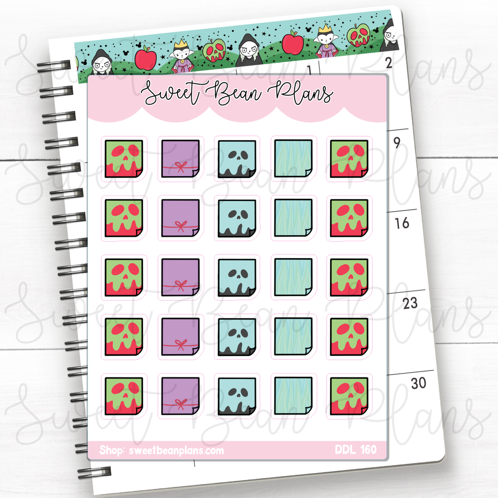 Lucky Princess Sleep Mask Doodles Planner Stickers | Ddl 160