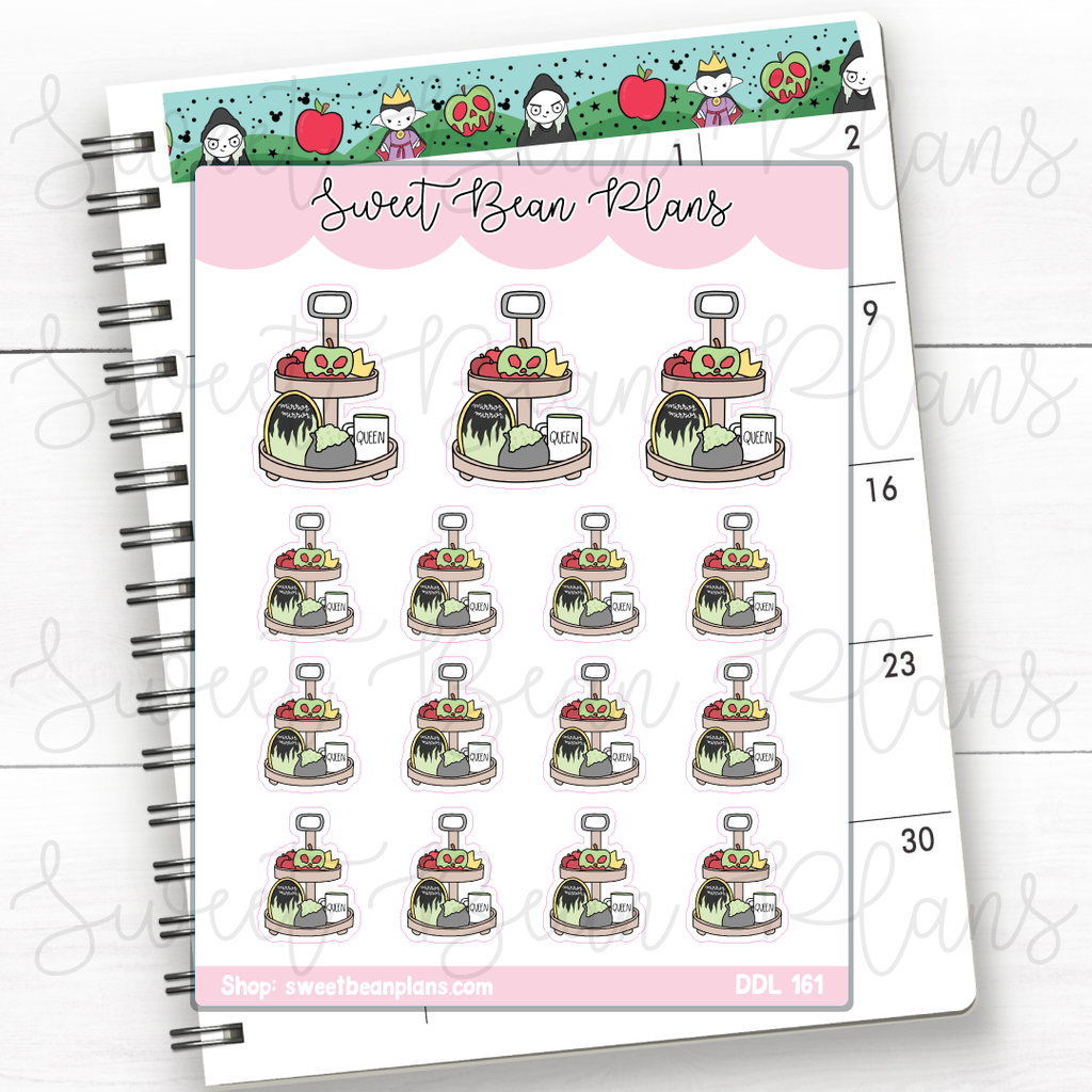 Lucky Princess Sticky Notes Doodles Planner Stickers | Ddl 161