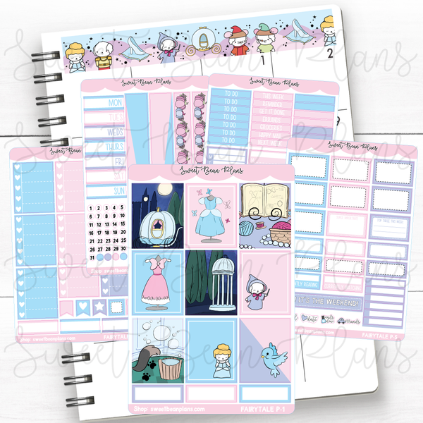 Fairytale Weekly Kit of Planner Stickers