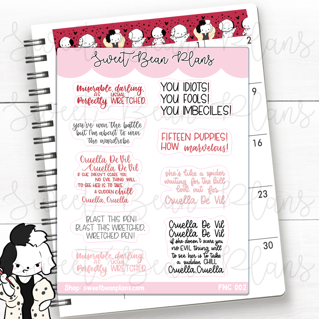 Cleaning Lucky Princess Planner Stickers | Fnc 002