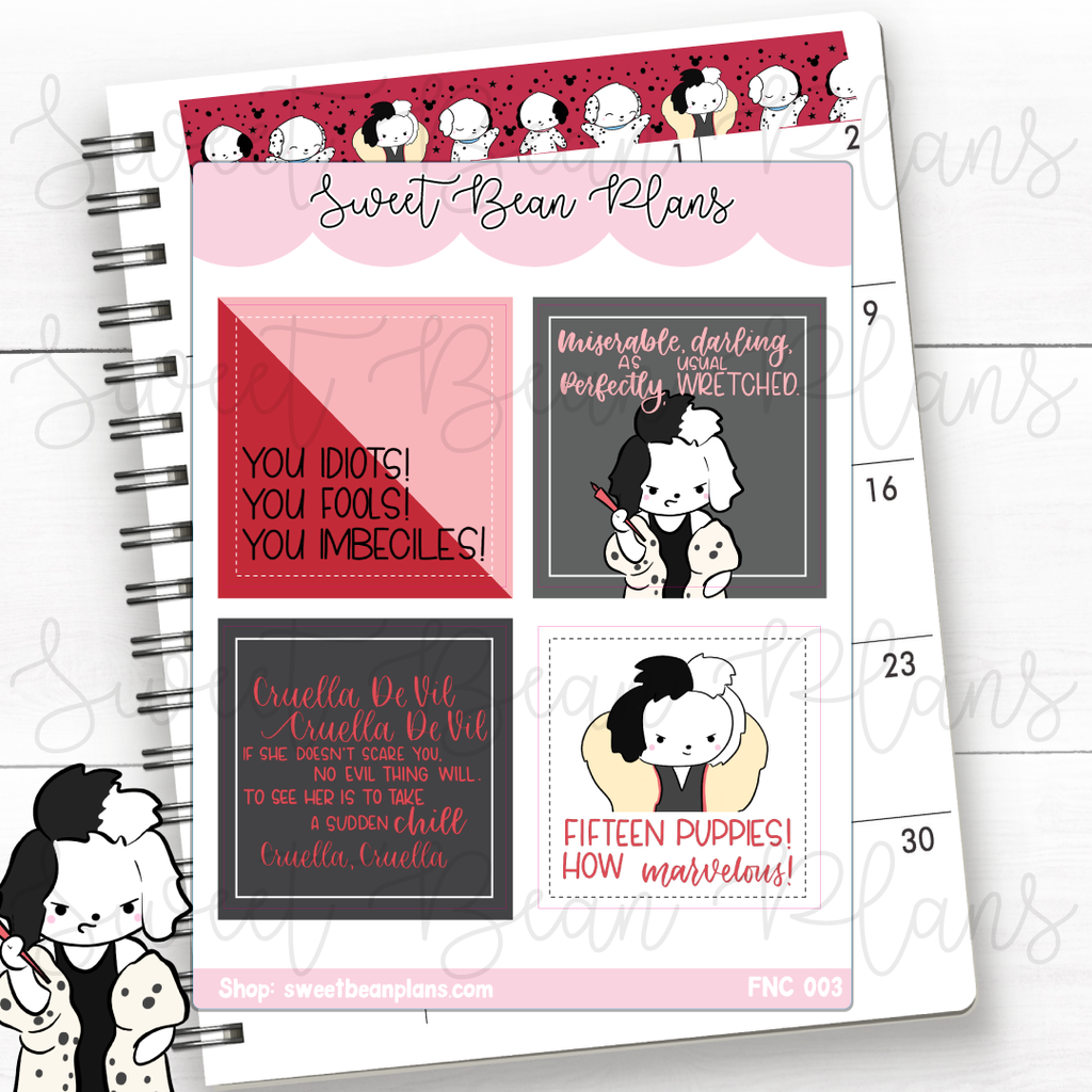 Weekly Boxes Lucky Princess Planner Stickers | Fnc 003
