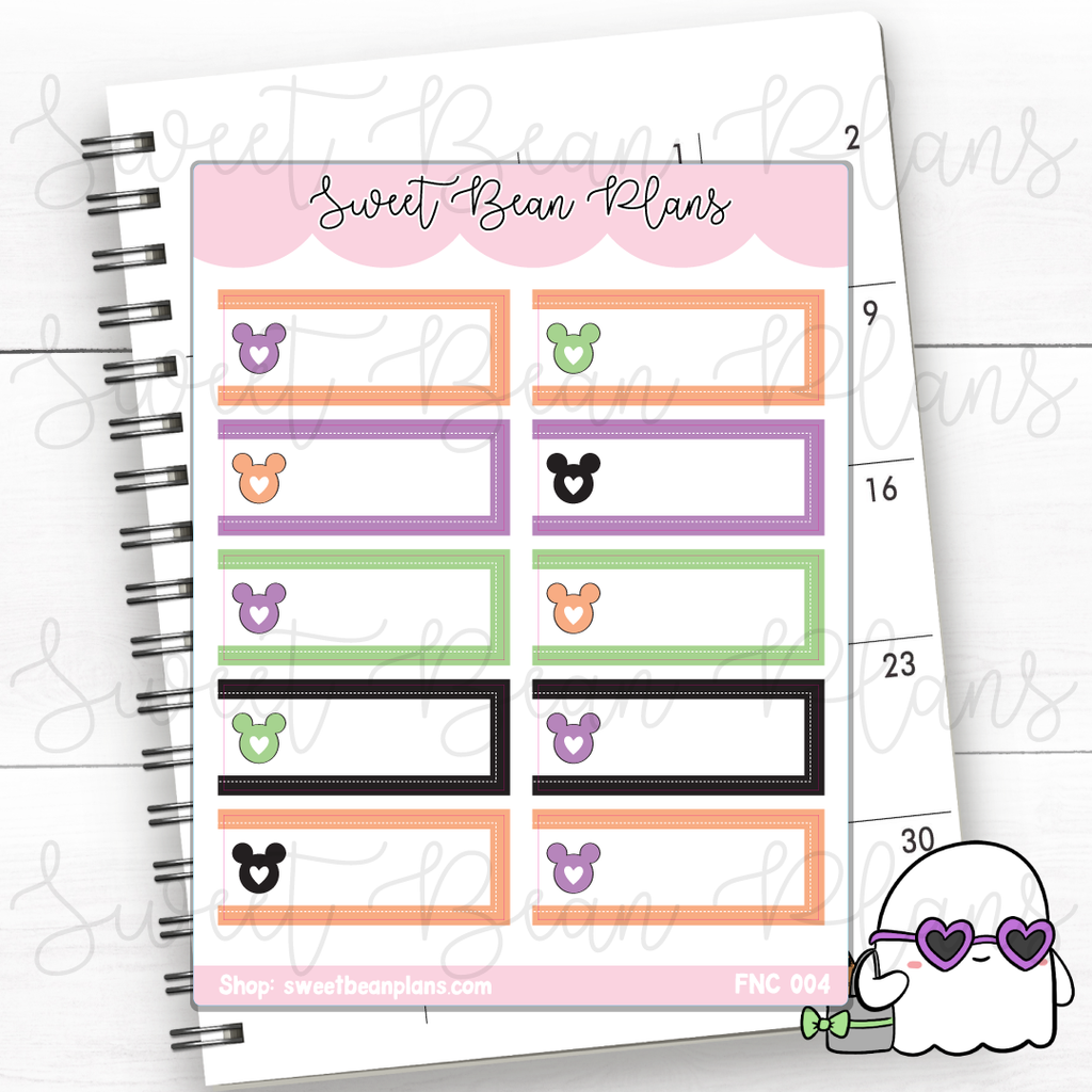 Habit Trackers Lucky Princess Planner Stickers | Fnc 004