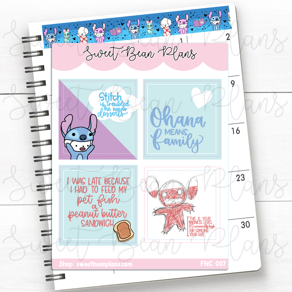 Park Bucket List Lettering Planner Stickers | Fnc 007