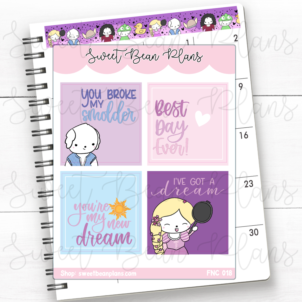 Weekly Boxes Maui Princess Planner Stickers | Fnc 018