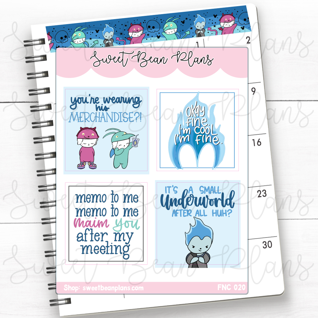 Date Covers Maui Princess Planner Stickers | Fnc 020