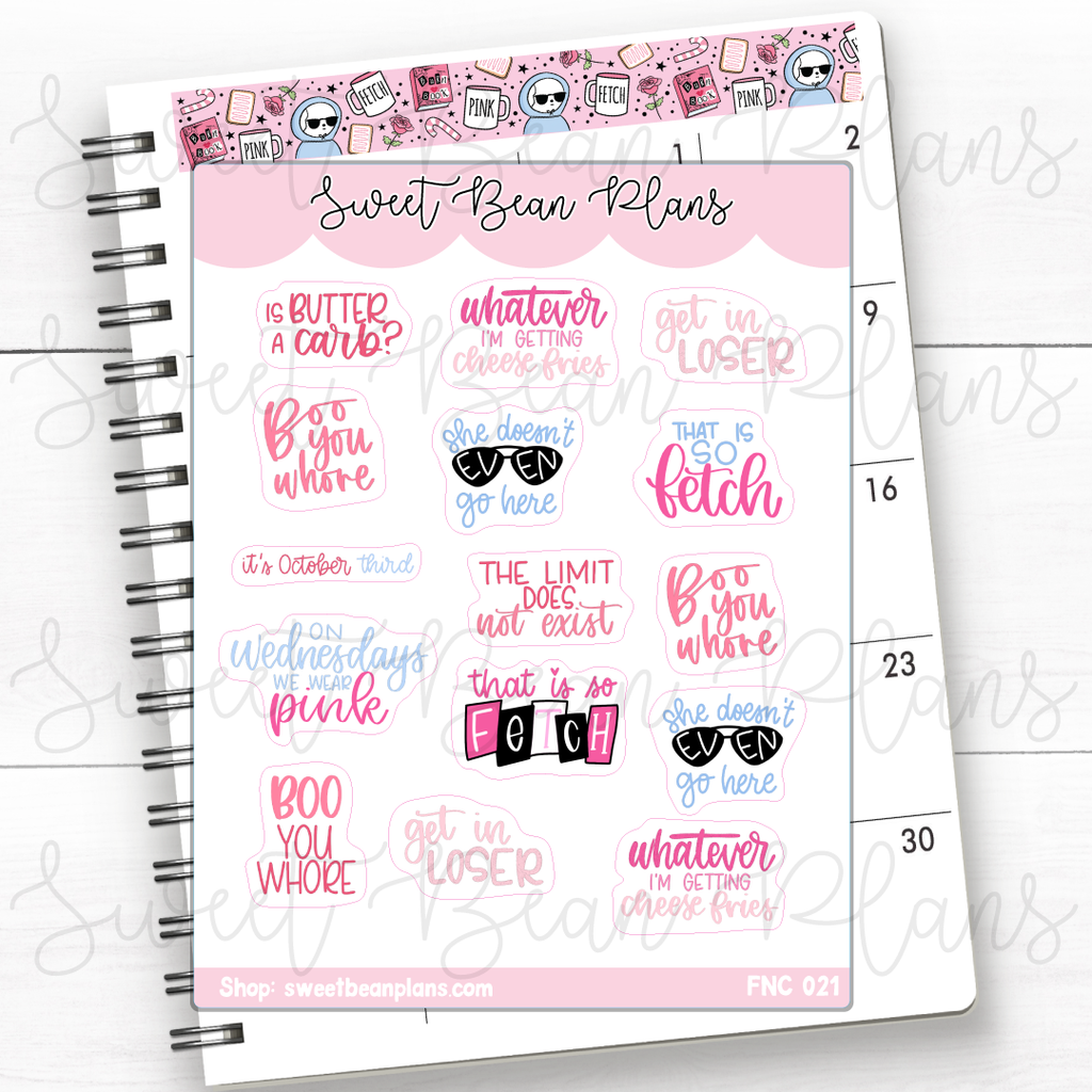 Maui Princess Quotes Planner Stickers | Fnc 021
