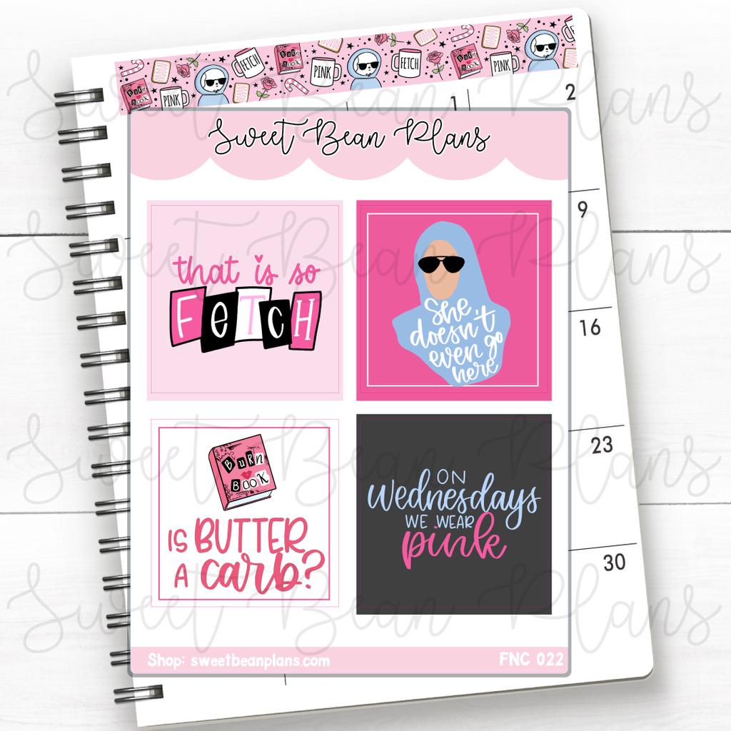Maui Princess Full Boxes Planner Stickers | Fnc 022
