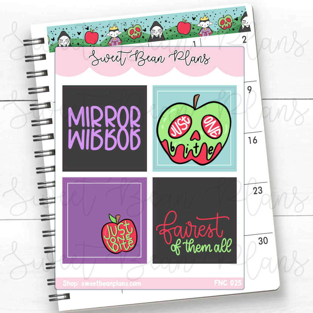 Weekly Boxes Haunted Planner Stickers | Fnc 025