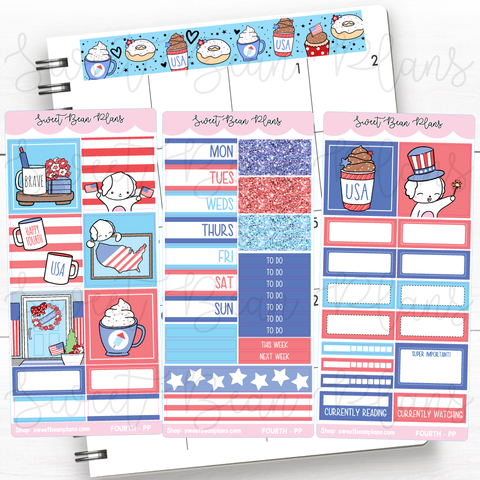 4th of July Bean PP Weeks Kit