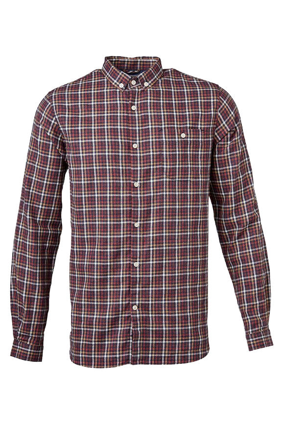 Small Checked Flannel Shirt madder brown