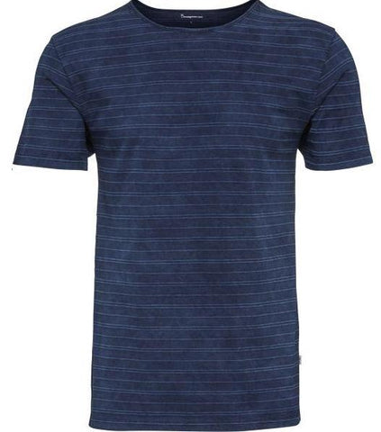 Yarndyed Striped Indigo T-shirt Total Eclipse