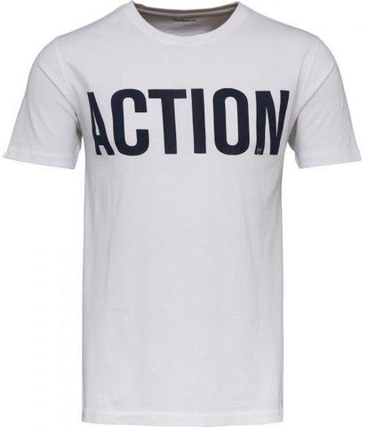 T-shirt w/action print Bright White