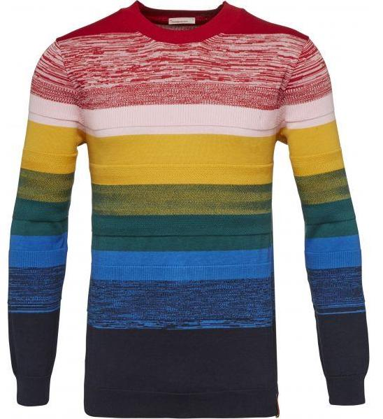 Mulit col. Crew neck knit Total Eclipse