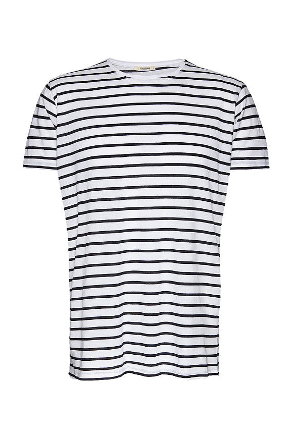 Wunderwerk Core tee stripe male white/blue