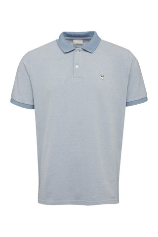 KnowledgeCotton Apparel Two colored polo pique placid blue