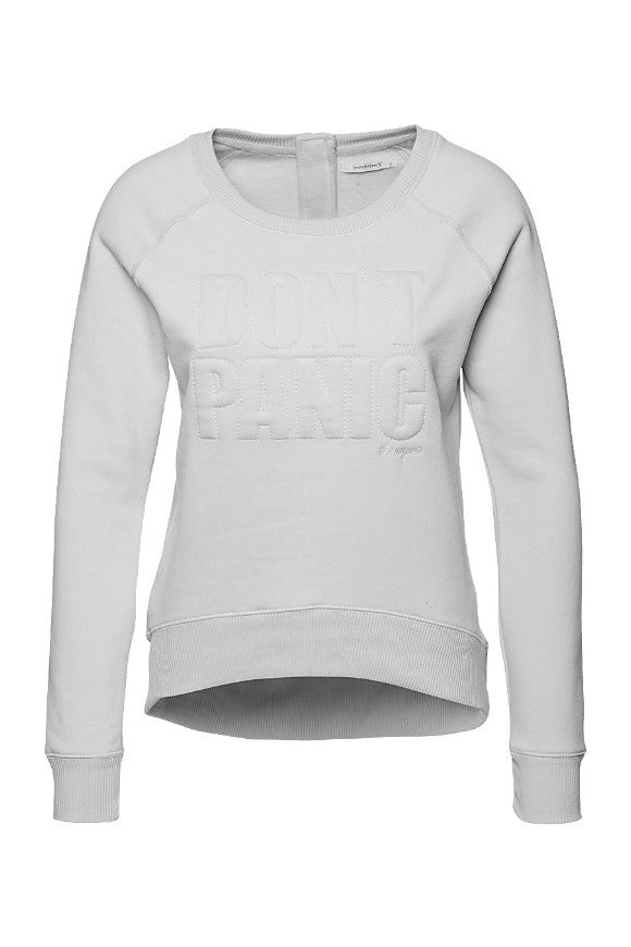 Soft sweat DONT PANIC female grey