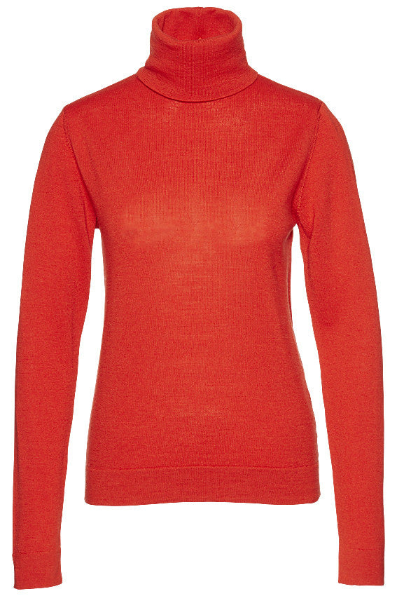 Core rollneck merino red