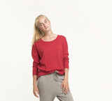 Studio Jux Drop shoulder top bright red