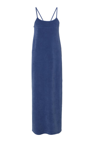 Velour Strap Dress Moonlight Blue