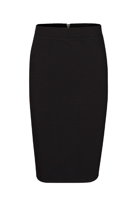 Compact sweat pencil skirt Black