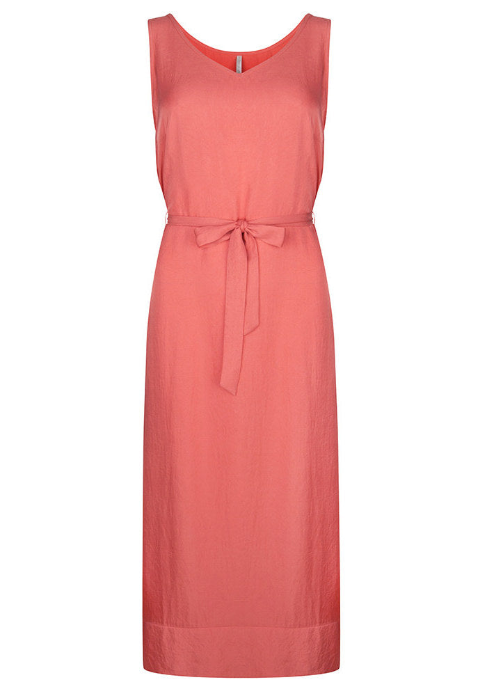 V-neck sleeveless dress coral from Charlie + Mary