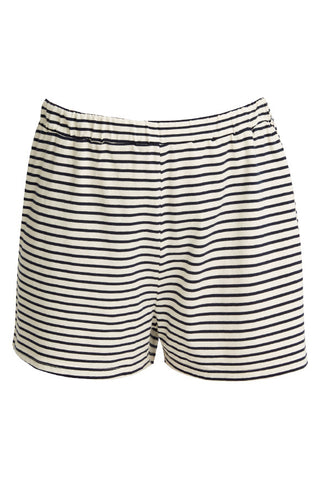 Stripe pyjama shorts Navy