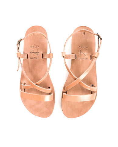 Sandal Cross Strap Small Natural
