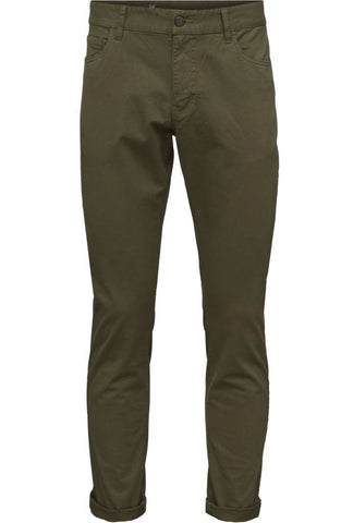 5-pocket stretched jeans Burned Olive