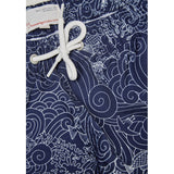 KnowledgeCotton Apparel Swim shorts w/waste print peacoat blue
