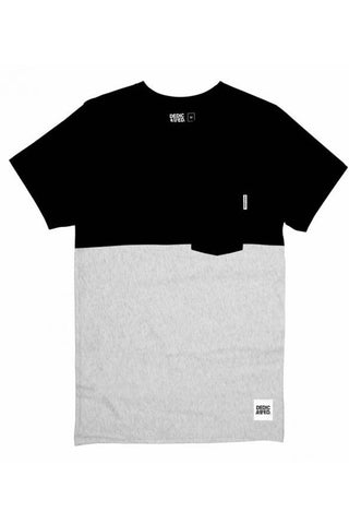 T-shirt 50/50 Black/Grey melange
