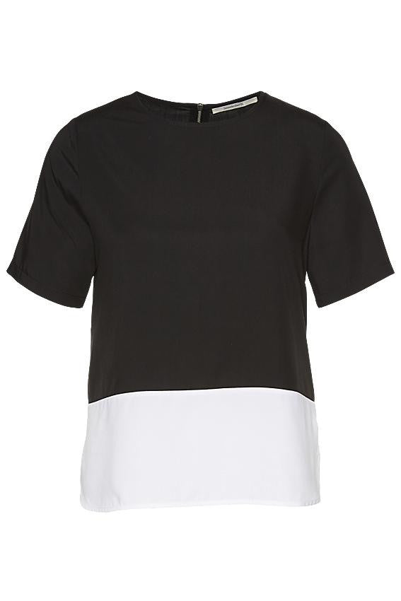 Wunderwerk Tencel T-blouse black/white