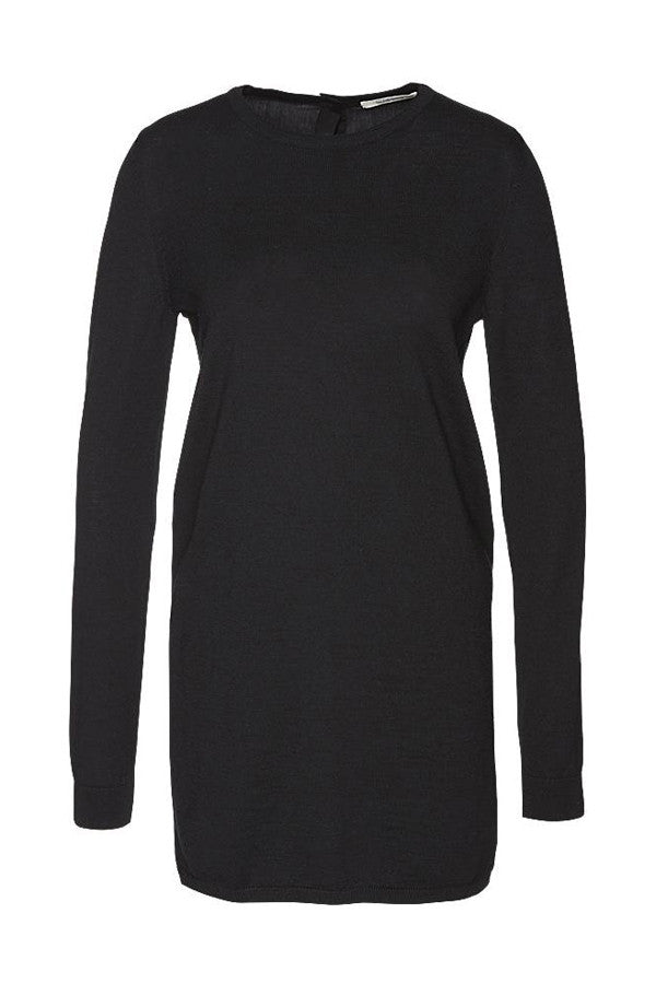 Knitted dress tencel layer black