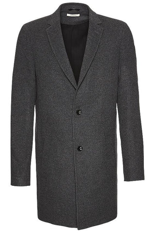 Wunderwerk Metro long coat male dark grey
