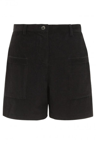 Miley Corduroy Shorts in Black