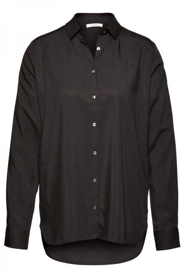 Tencel contemporary blouse black from Charlie + Mary