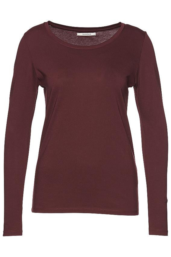 Crewneck longsleeve deep wine from Charlie + Mary