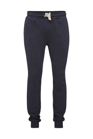 KnowledgeCotton Apparel Basic jog pant in melange mixed yarns total eclipse