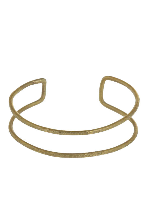 Double bangle brass