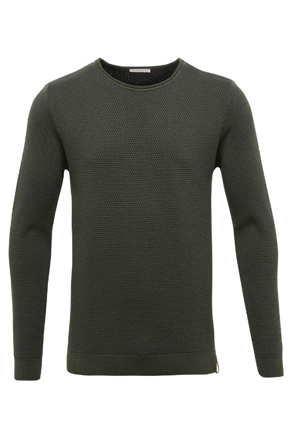Two toned round neck knit Forrest Night