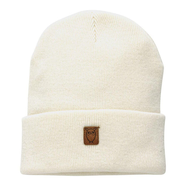 05e33d7e6c5 KnowledgeCotton Apparel Beanie hat Nature Melange