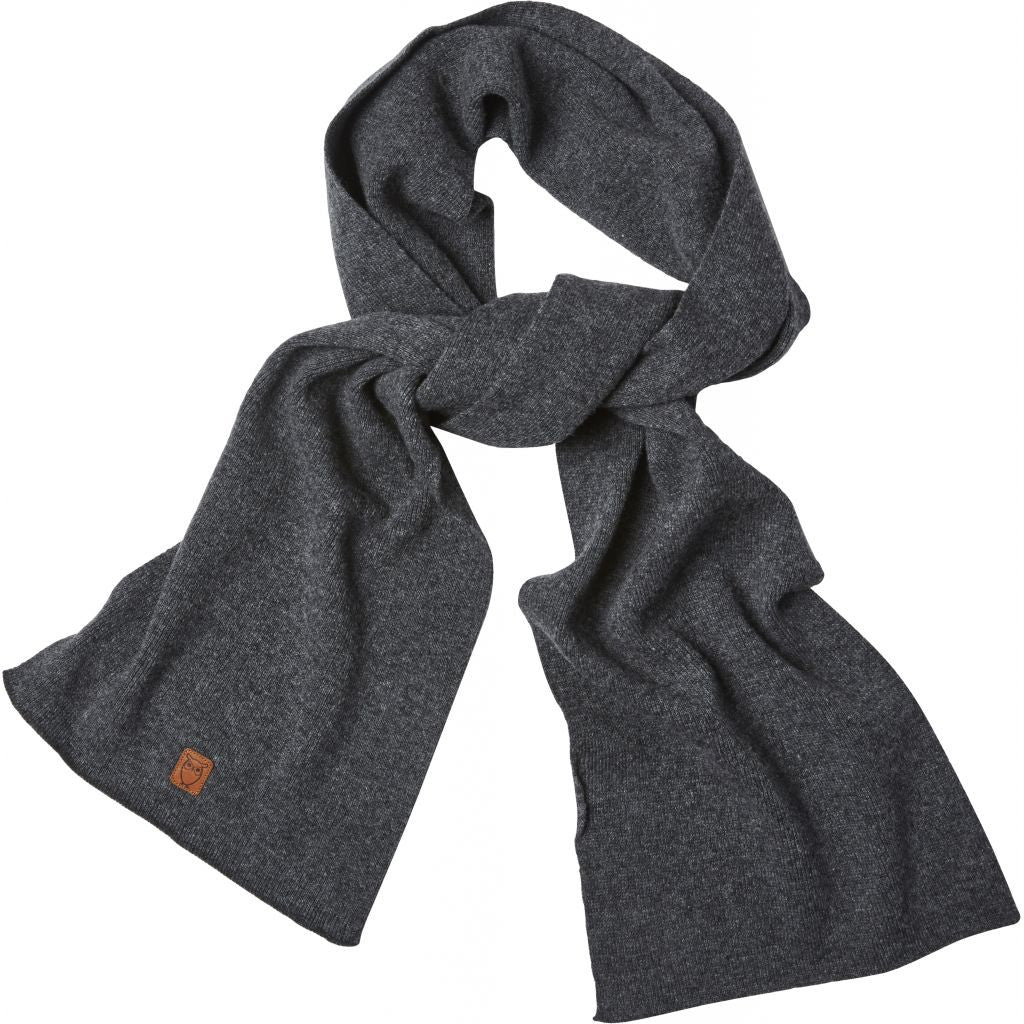 1074870cac6 KnowledgeCotton Apparel Scarf Dark Grey Melange