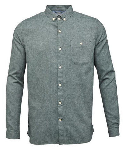 Melange effect flannel shirt Green Gables