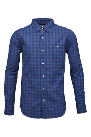 Checked shirt Peacoat