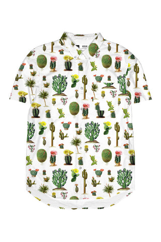 Dedicated Short sleeve shirt cactus white