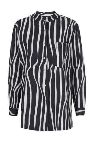 Chyna shirt Draped stripes digi print