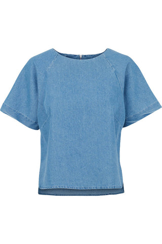 POPUPSHOP Atwater top washed denim look