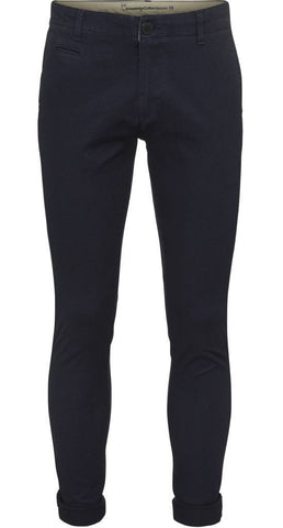 Fabric dyed structured chinos Total Eclipse