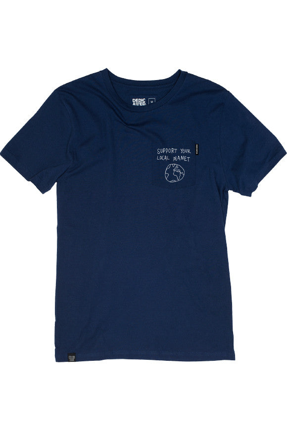 Stockholm t-shirt pocket local planet Navy