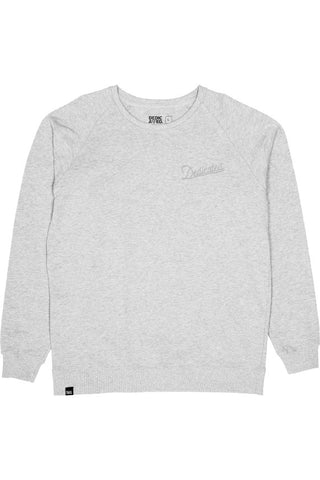 Dedicated Malmoe mountain script sweater grey melange